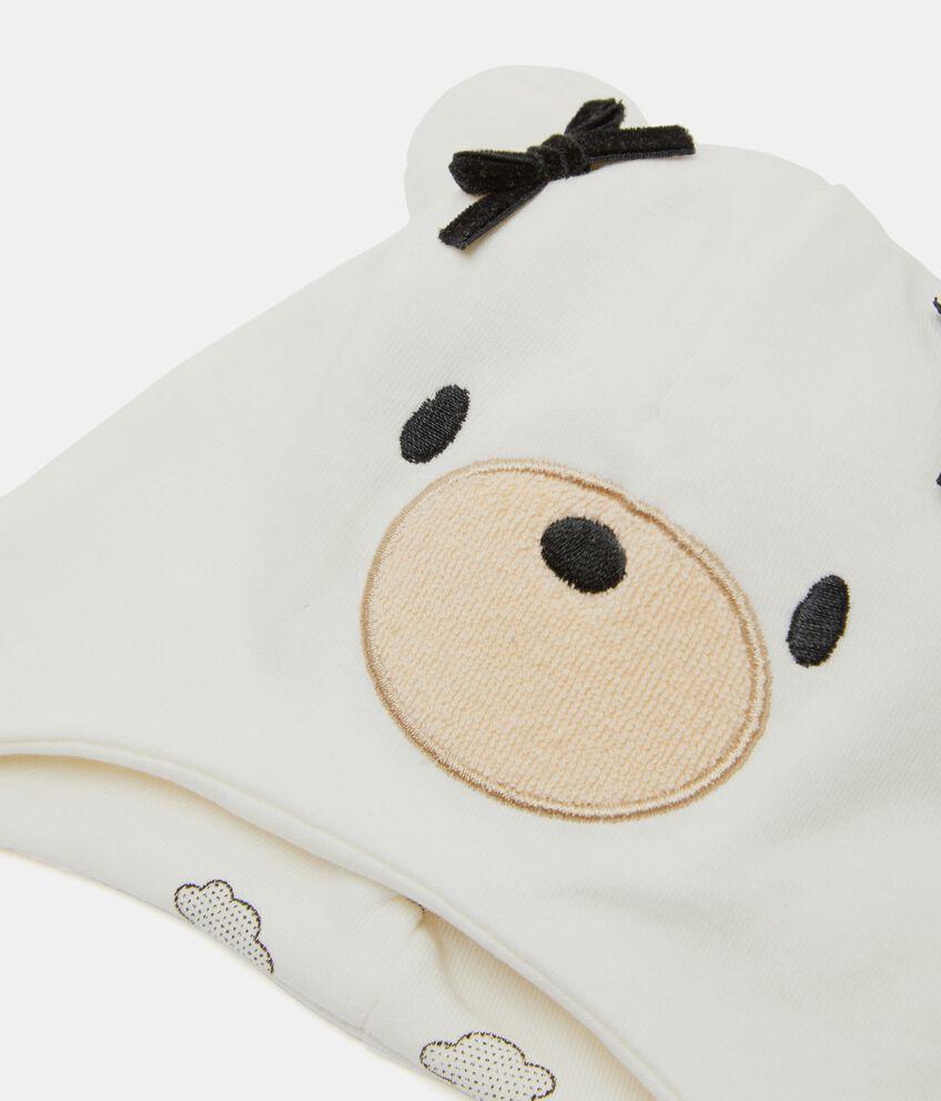 Cappellino orsetto in puro cotone