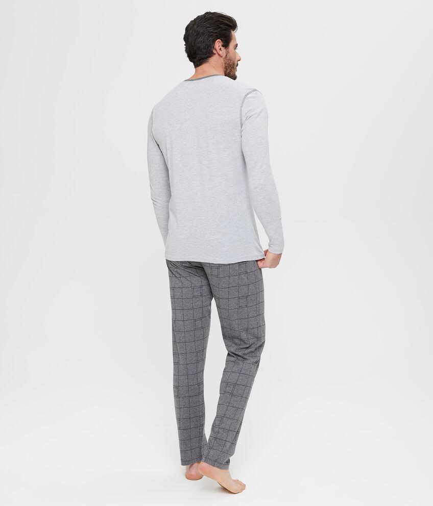 Maglia pigiama con ricamo lettering