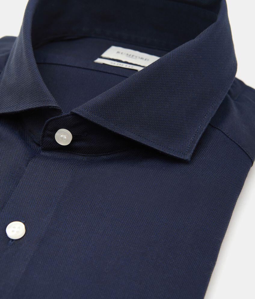 Camicia tinta unita in puro cotone uomo double 2