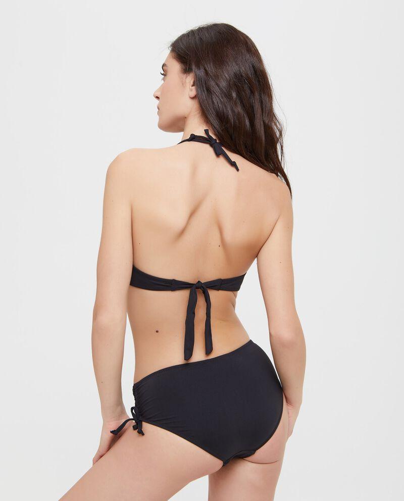 Top Bikini in tinta unita con fiocco