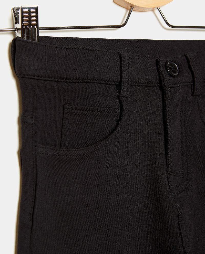 Jeans in cotone stretch con cinque tasche ragazzodouble bordered 1