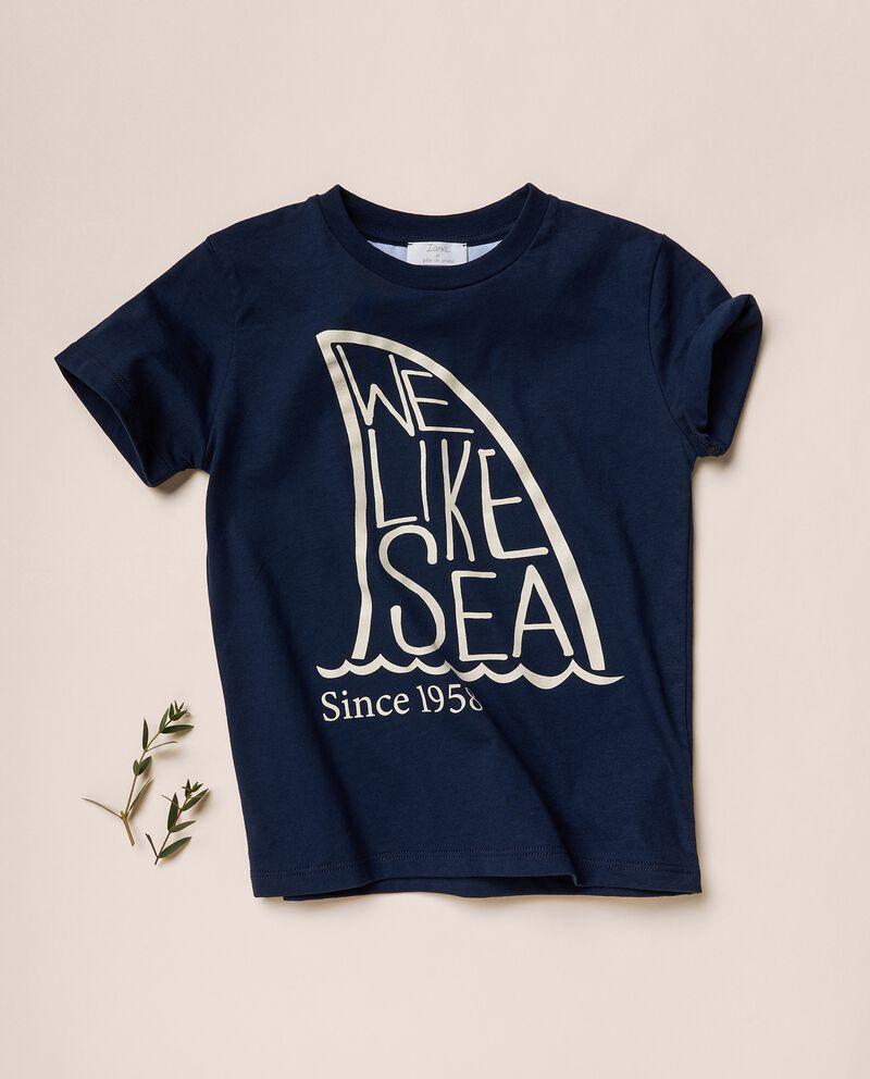 T-shirt con stampa in cotone organico jersey cover