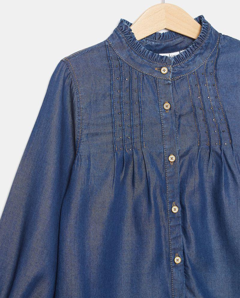 Camicia in lyocell con borchiette bambina single tile 1