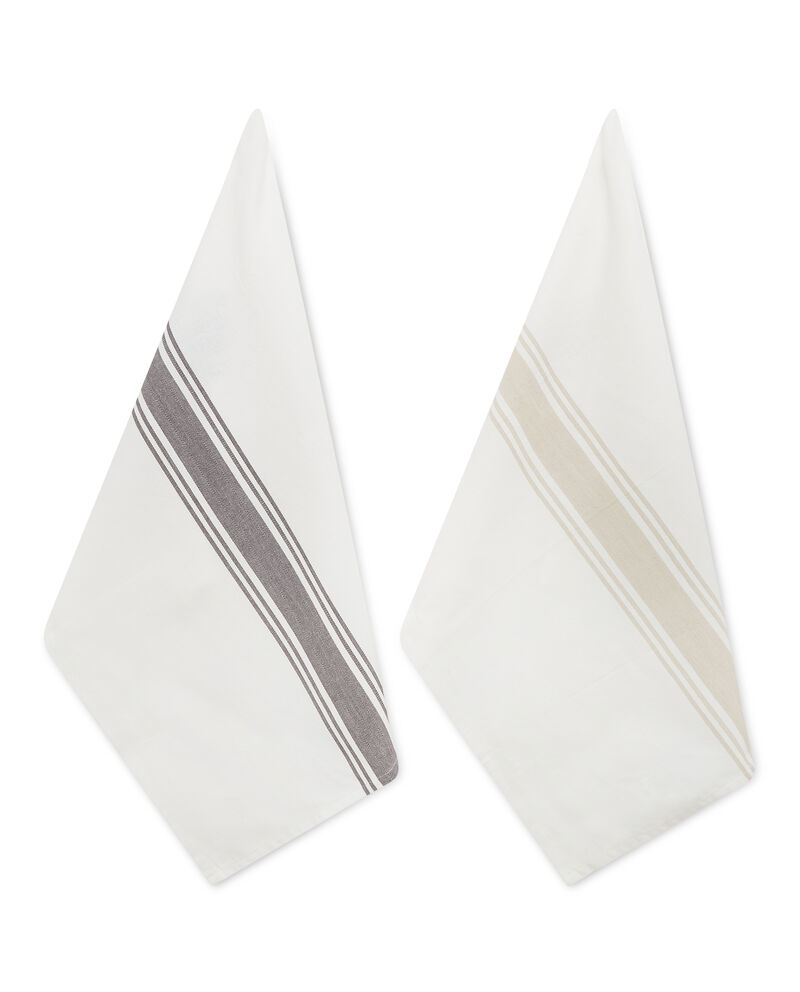 Set due strofinacci cotone herringbone