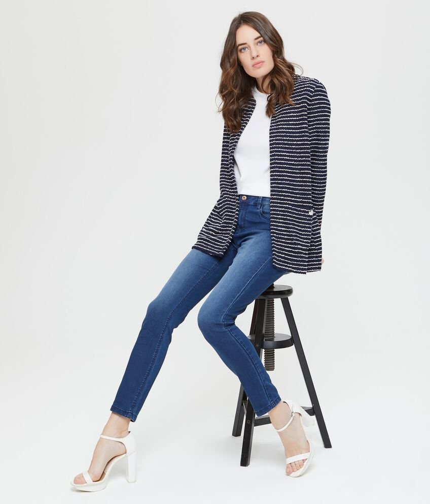 Giacca cardigan con tasche a righe