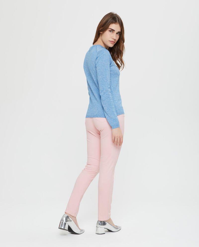 Maglia in cotone tricot in tinta unita