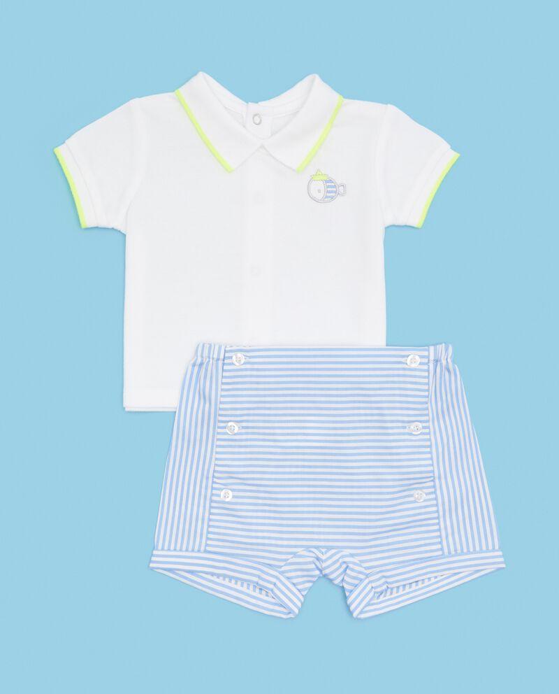 Set polo e shorts in puro cotone