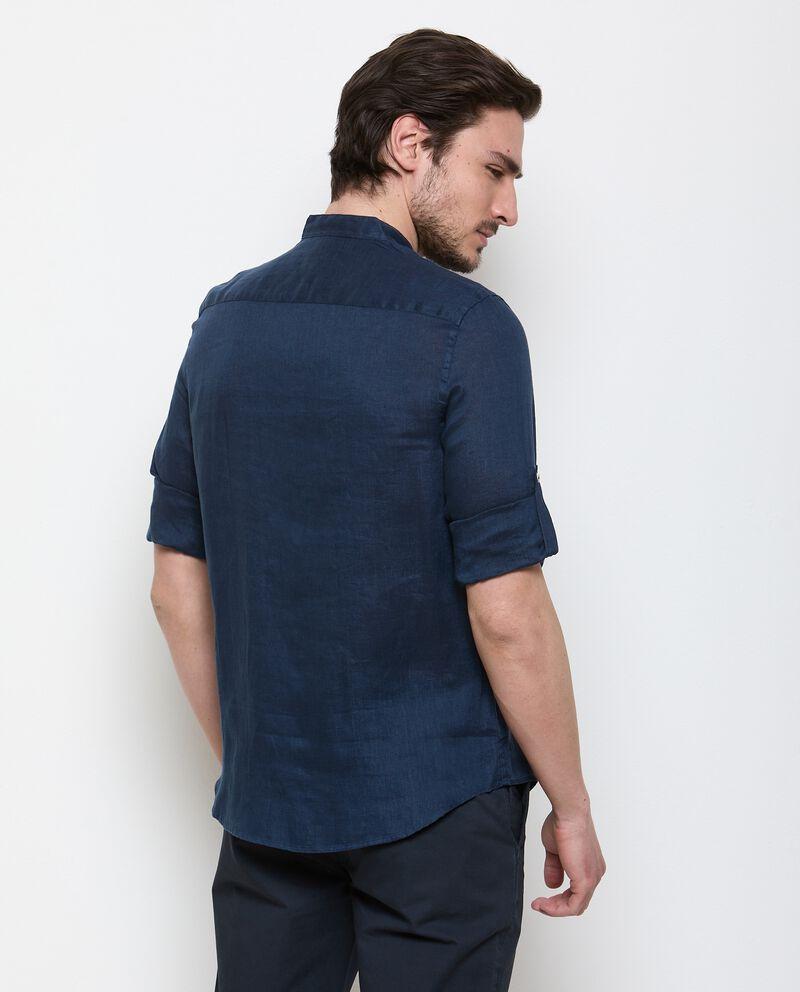 Camicia di puro lino tinta unita uomo