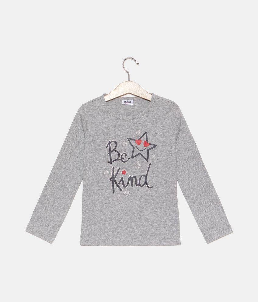 T-shirt con glitter bambina