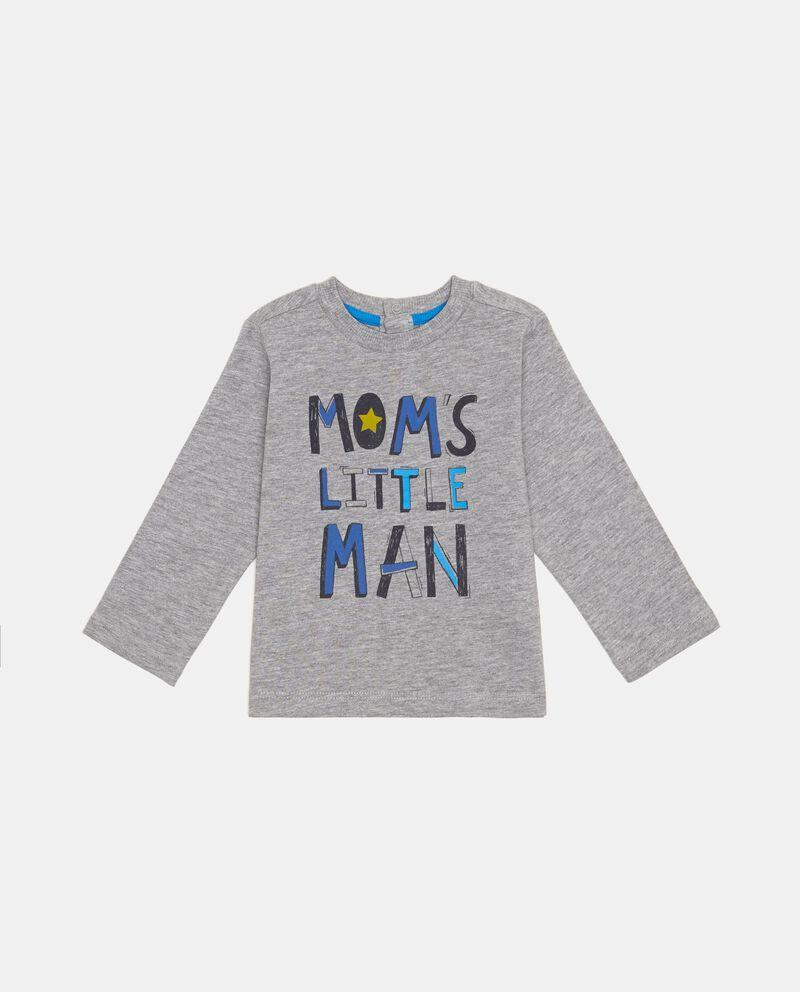 T-shirt mélange stampa lettering