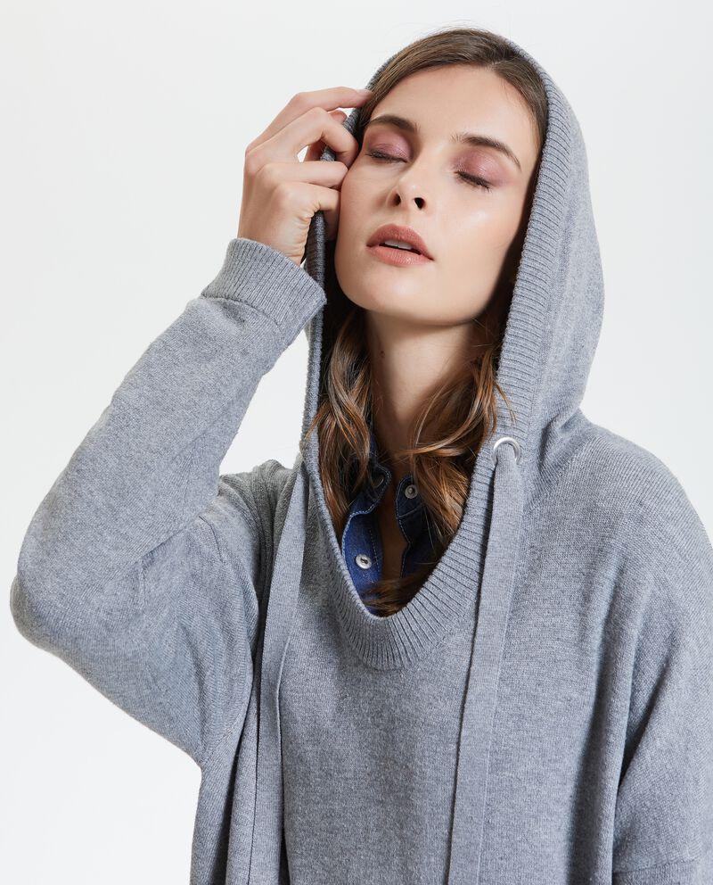 Maglione con cappuccio donna