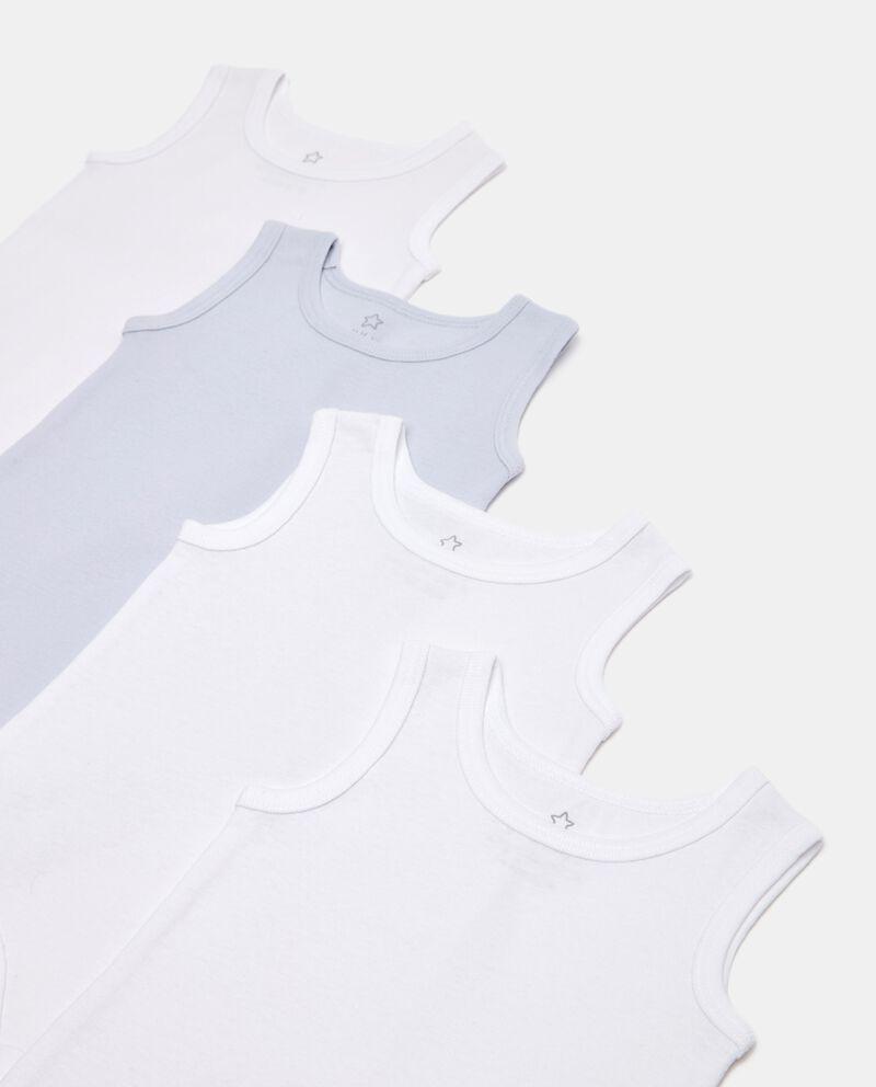 Pack di 4 body costina in cotone organico neonato