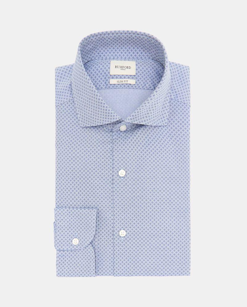 Camicia di puro cotone con micro fantasia uomo cover