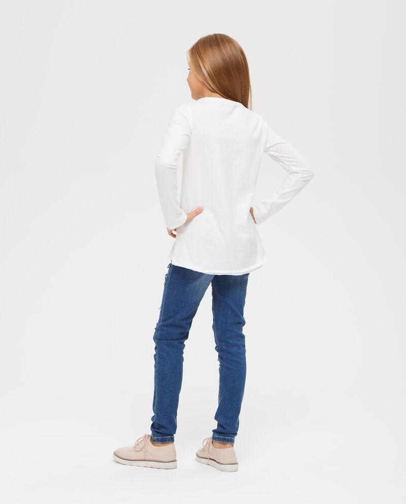 T-shirt cotone con stampa bambina
