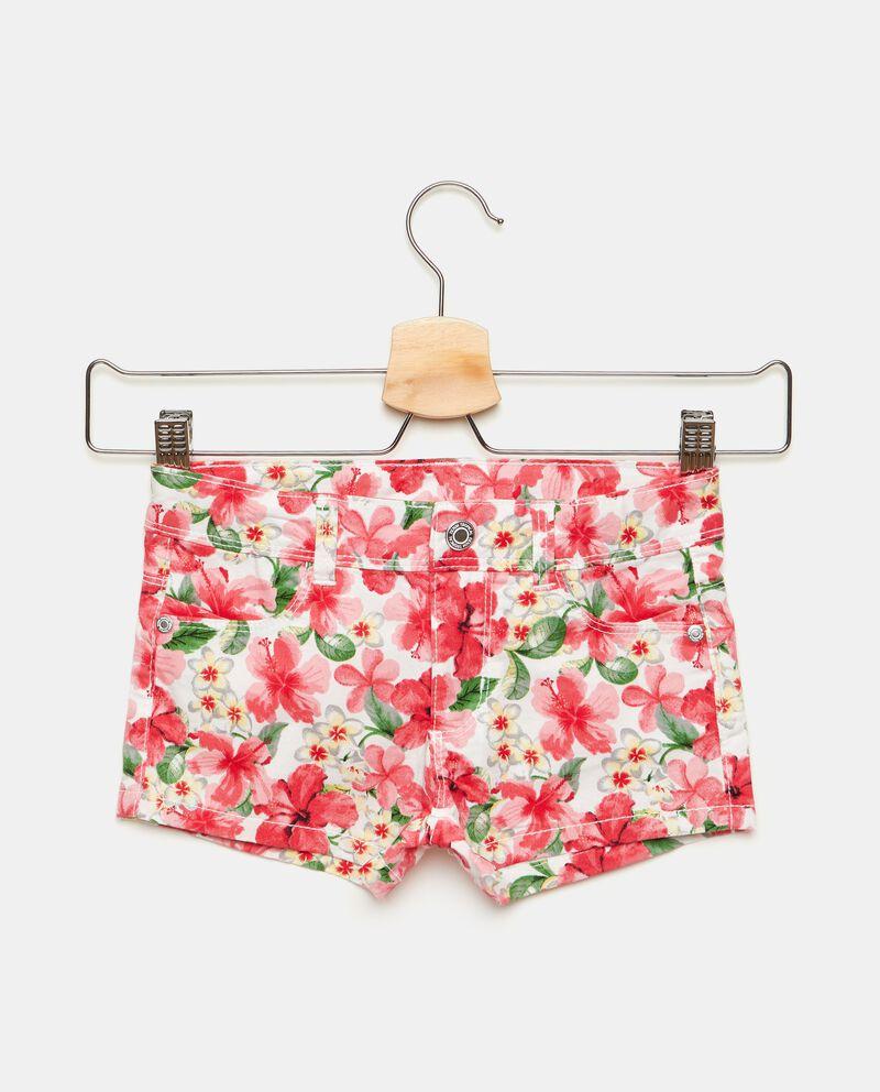 Shorts in popeline stretch con fantasia floreale bambina