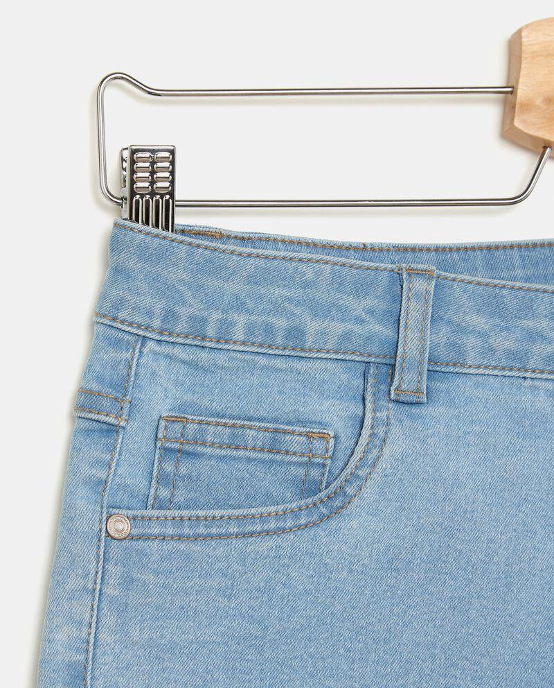 Shorts in denim stretch bambina