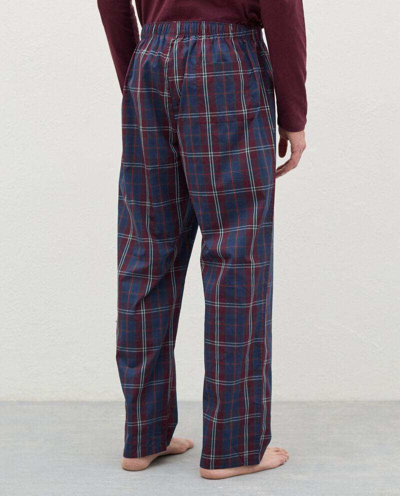 Pantaloni del pigiama a quadri in cotone uomodouble bordered 1