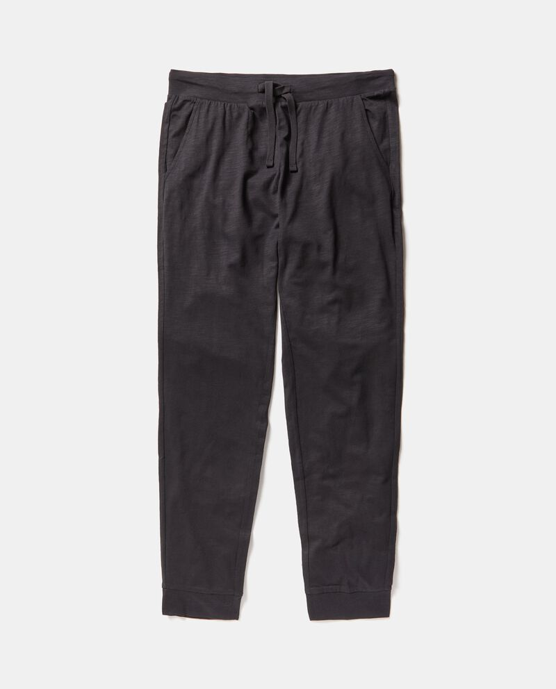 Pantaloni Fitness tinta unita puro cotone uomo