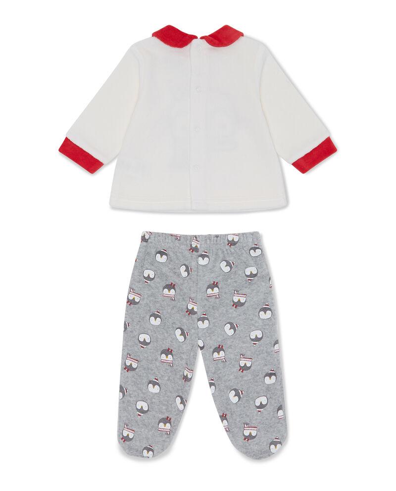 Tutina felpa e pantaloni pinguino