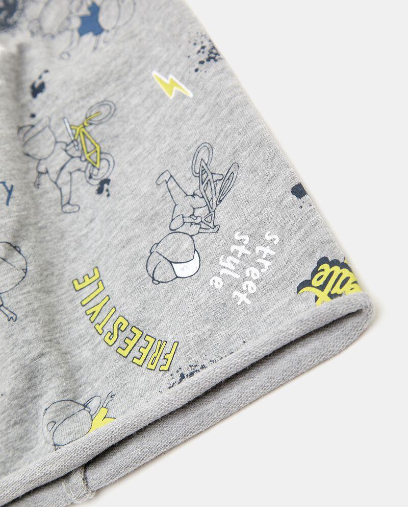 Berretto in felpina elasticizzata con stampa neonato single tile 1