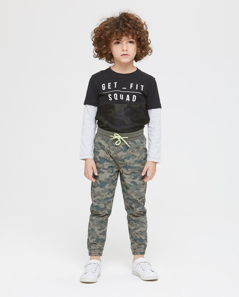 Pantaloni con coulisse camouflage