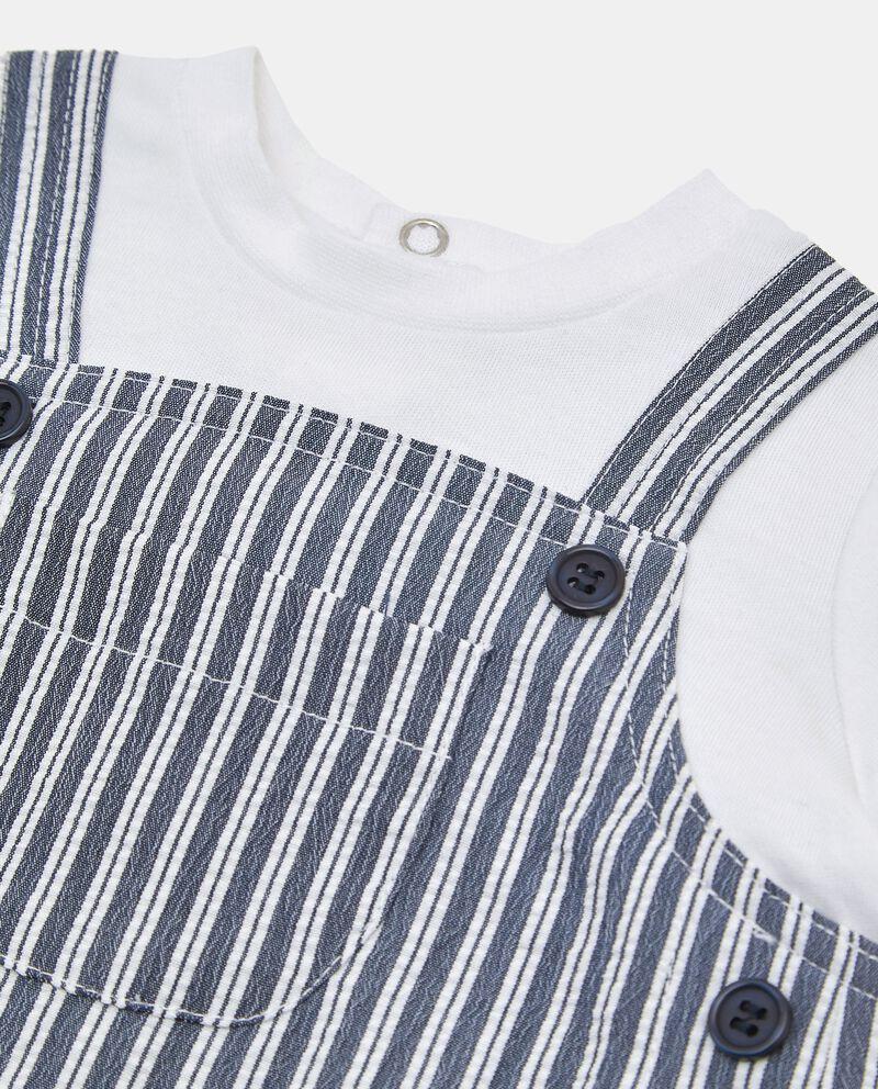 Pagliaccetto in cotone con finta t-shirt single tile 1