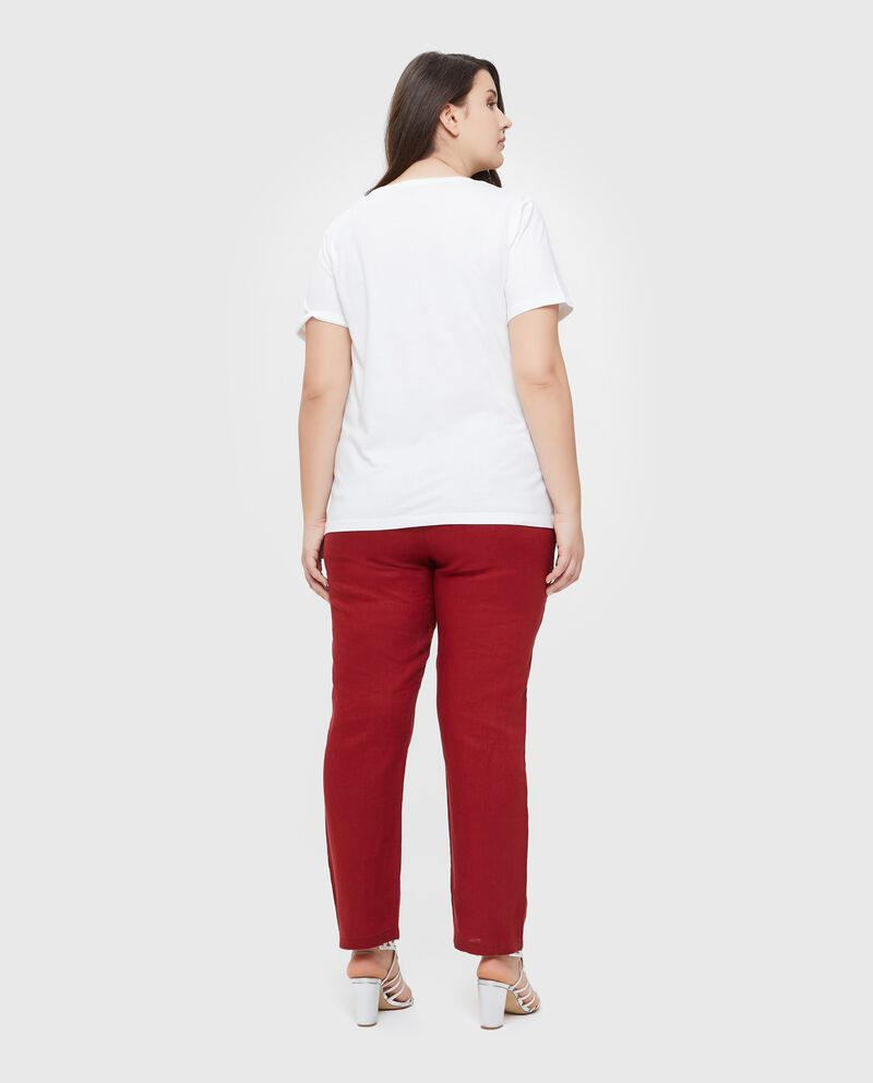 T-shirt con disegno in puro cotone Curvy donna