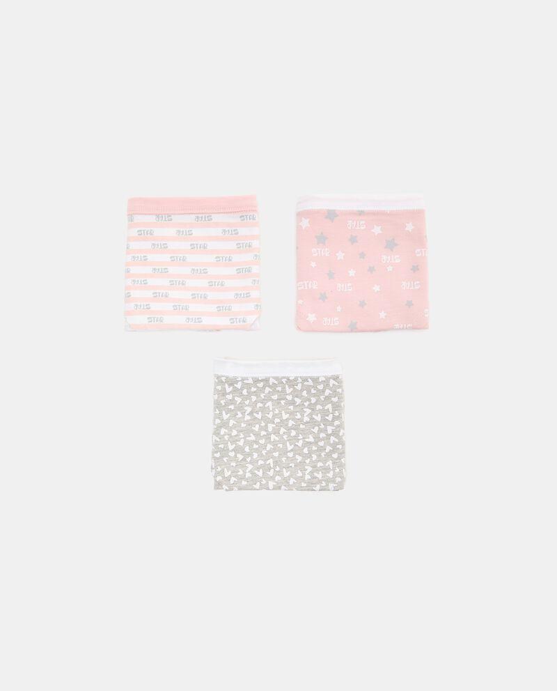 Set con 3 culotte in cotone biologico stretch ragazza cover