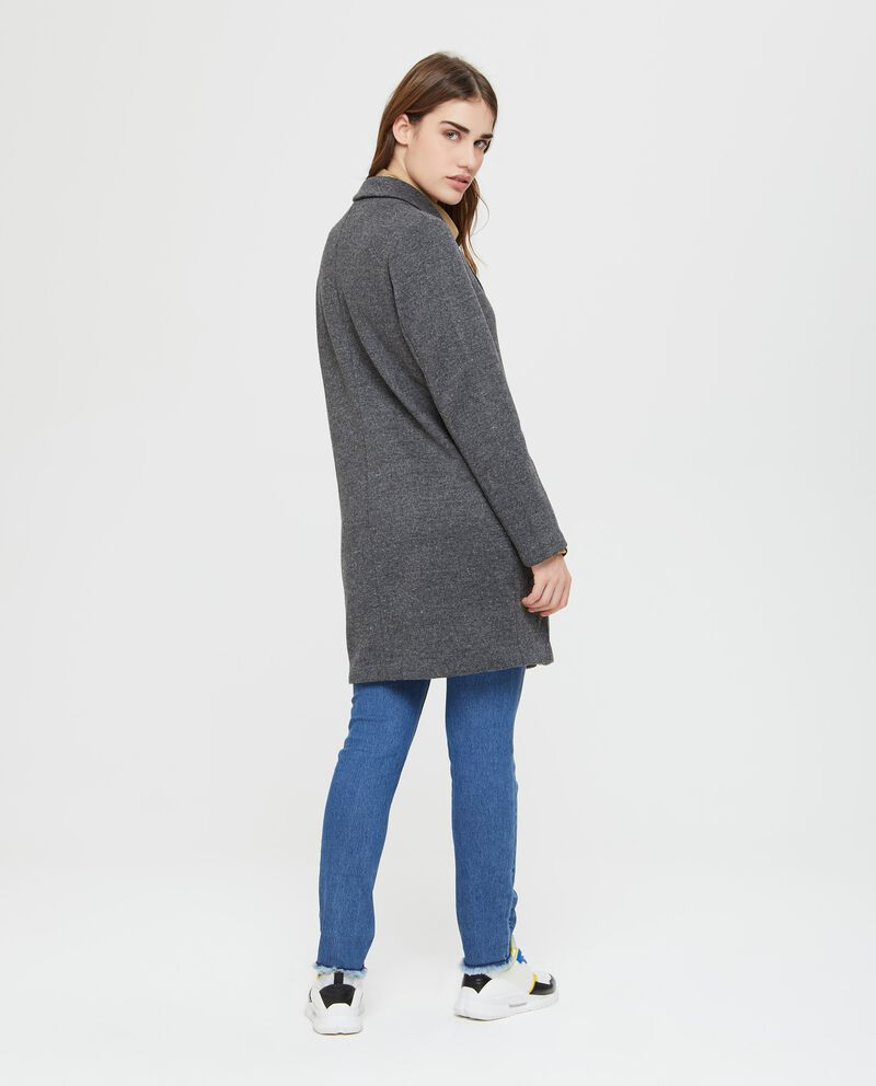 Cappotto in felpa in tinta unita grigio