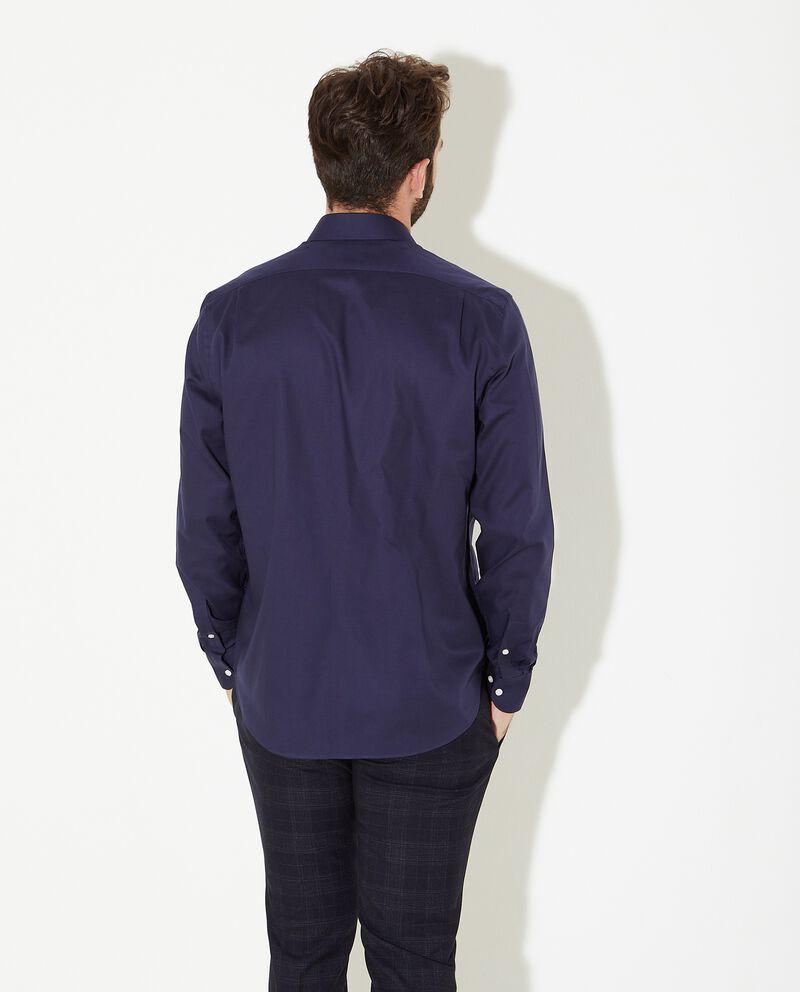 Camicia di puro cotone in tinta unita uomo