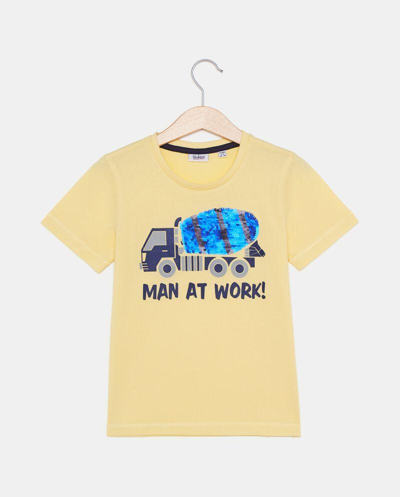 T-shirt in puro cotone con paillettes bambino