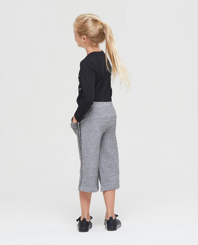 Pantaloni crop con lurex mélange