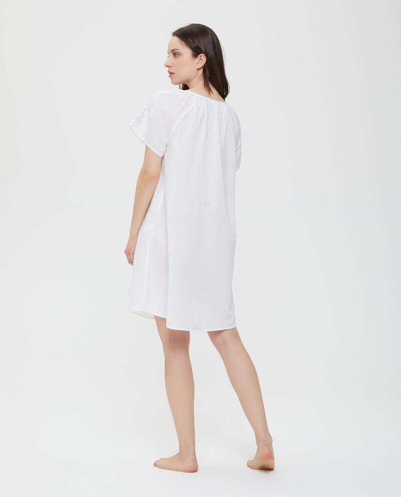 Camicia da notte in puro cotone bianca donna