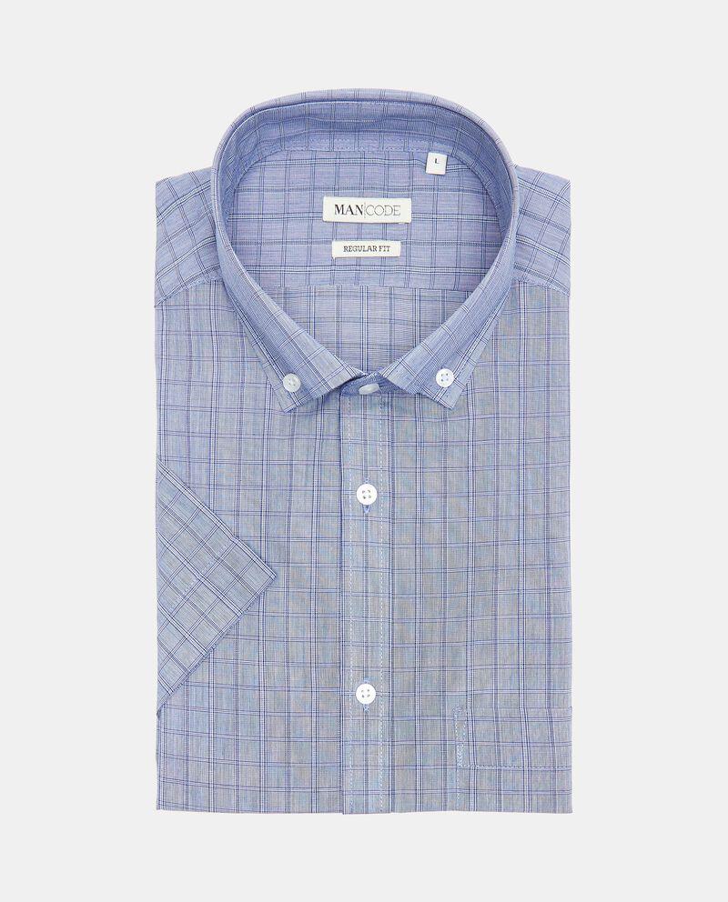 Camicia regular fit a manica corta a quadri cover