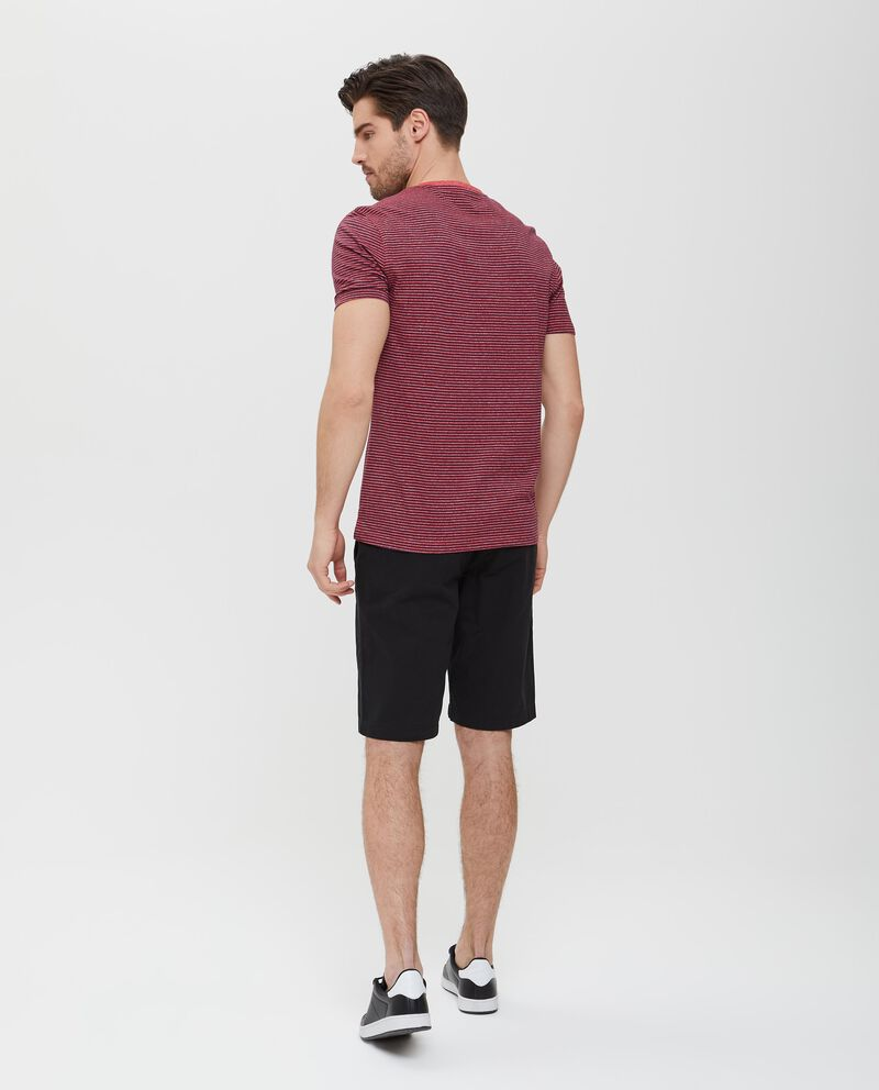 T-shirt in cotone a maniche corte a righe uomo