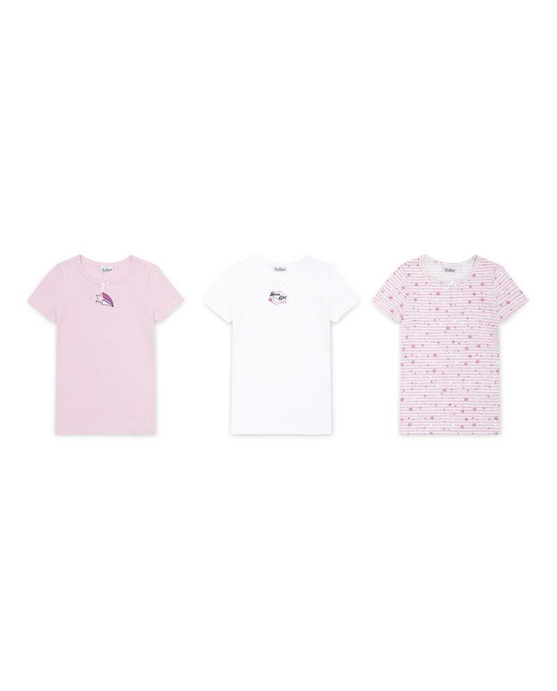 Set tre t-shirt intime puro cotone stelle