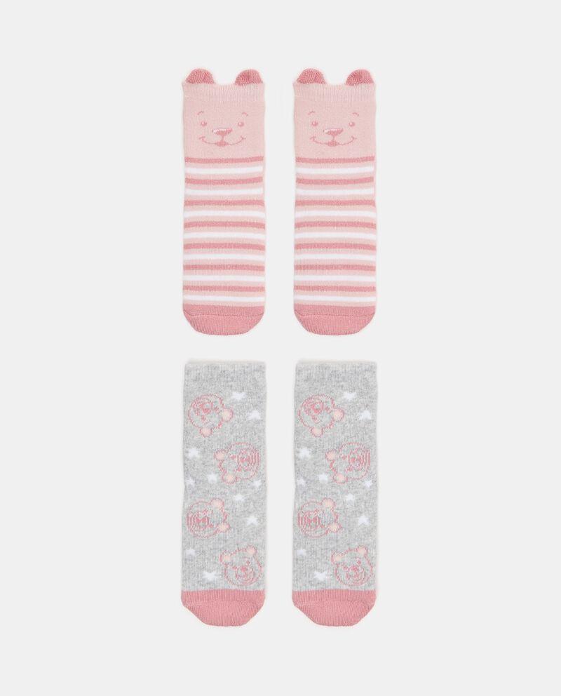 Bipack 2 paia di calzini in cotone biologico stretch neonata cover