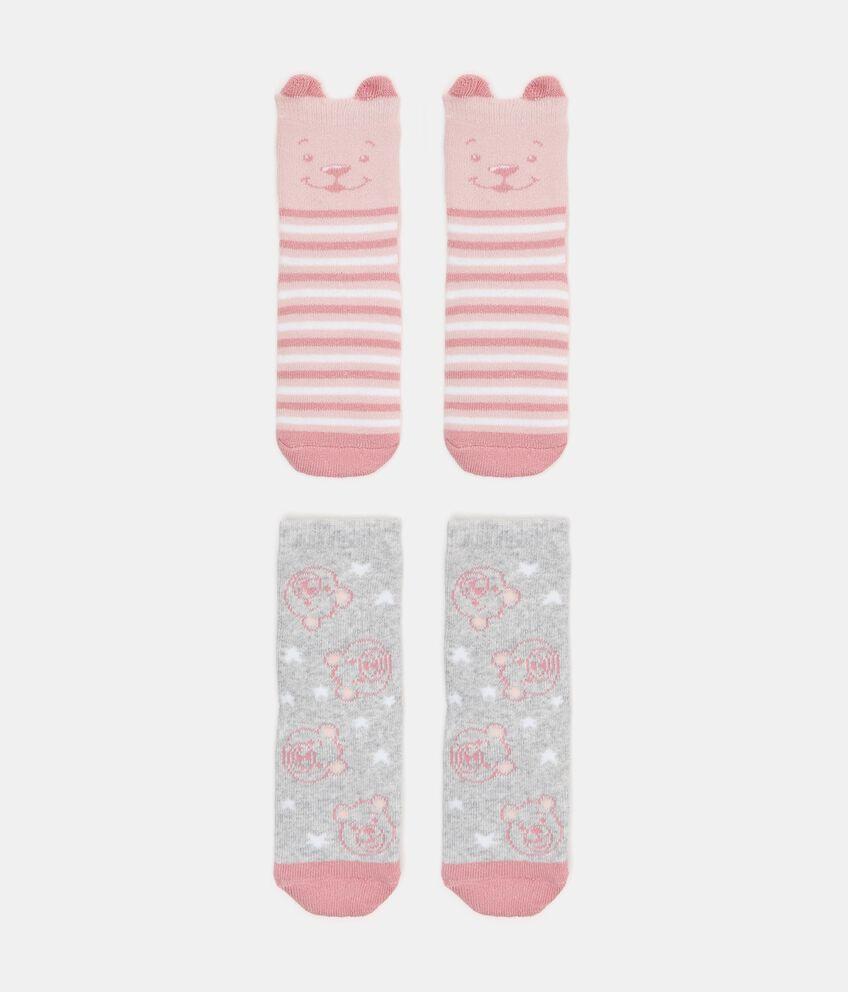 Bipack 2 paia di calzini in cotone biologico stretch neonata double 1