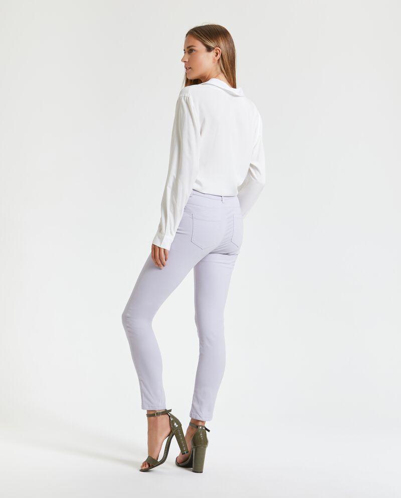 Pantaloni vita alta con cinque tasche donna