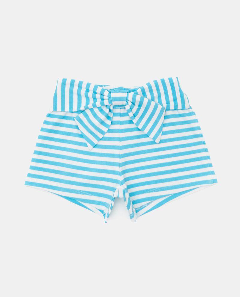 Shorts rigati tinto filo in cotone organico neonatadouble bordered 0