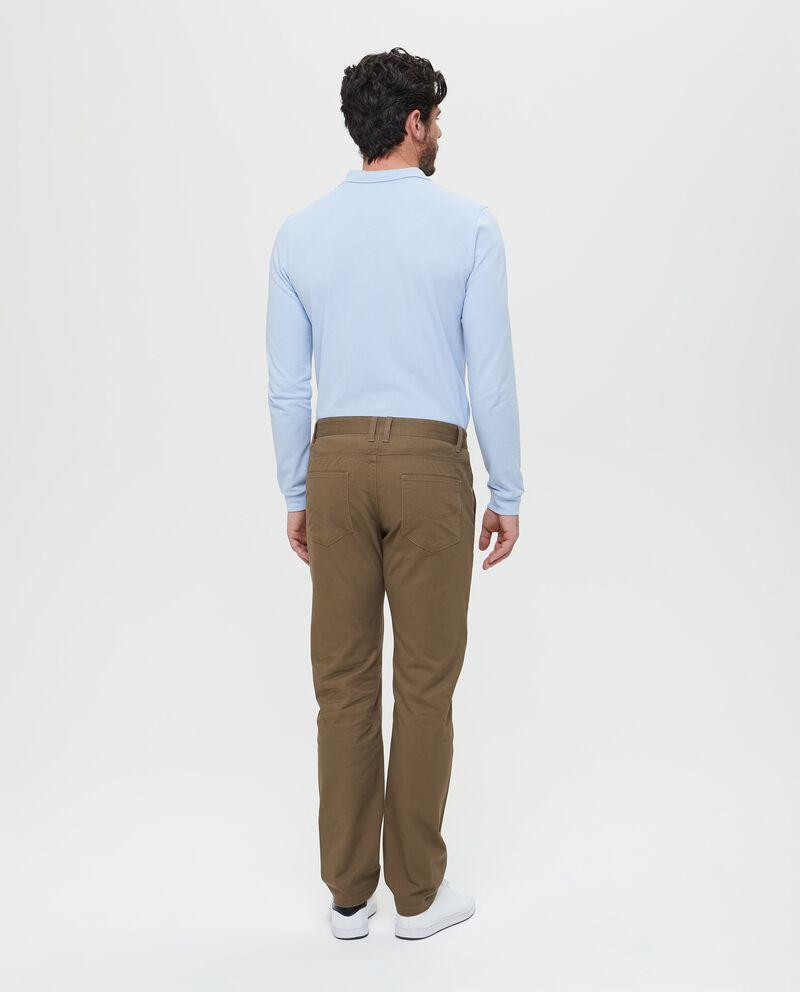 Pantaloni casual tinta unita
