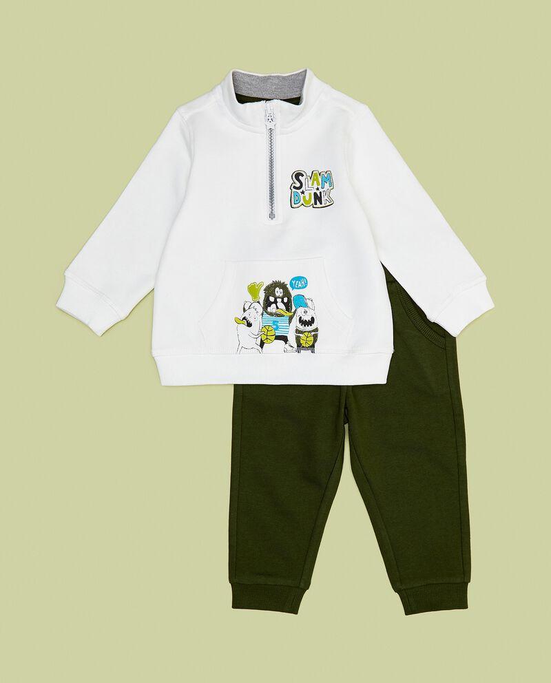 Set jogging di puro cotone neonato
