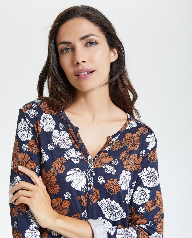 T-shirt con fantasia floreale donna