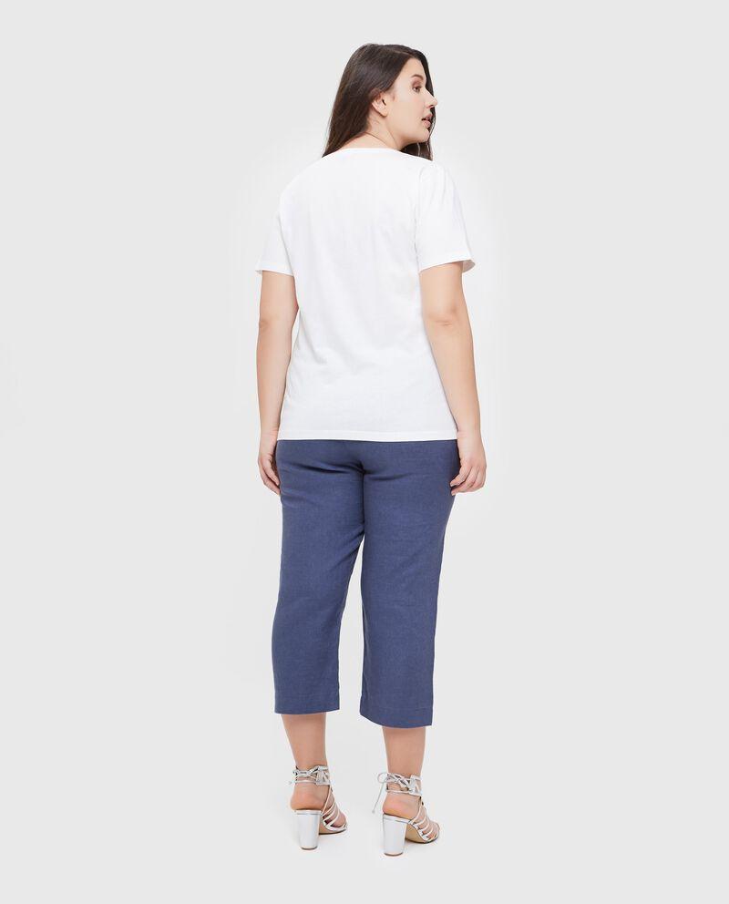T-shirt con stampa in puro cotone Curvy donna