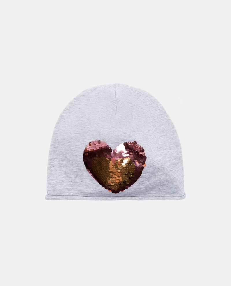 Cappello invernale con cuore in paillettes