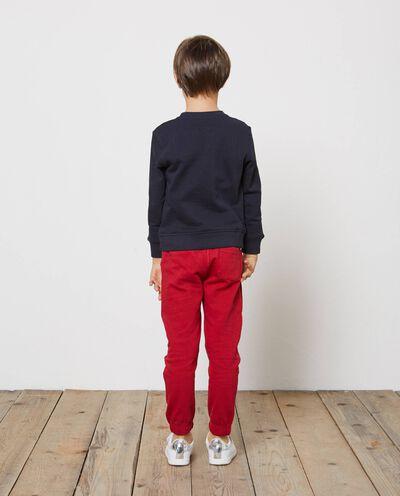 Pantaloni tuta in puro cotone tinta unita