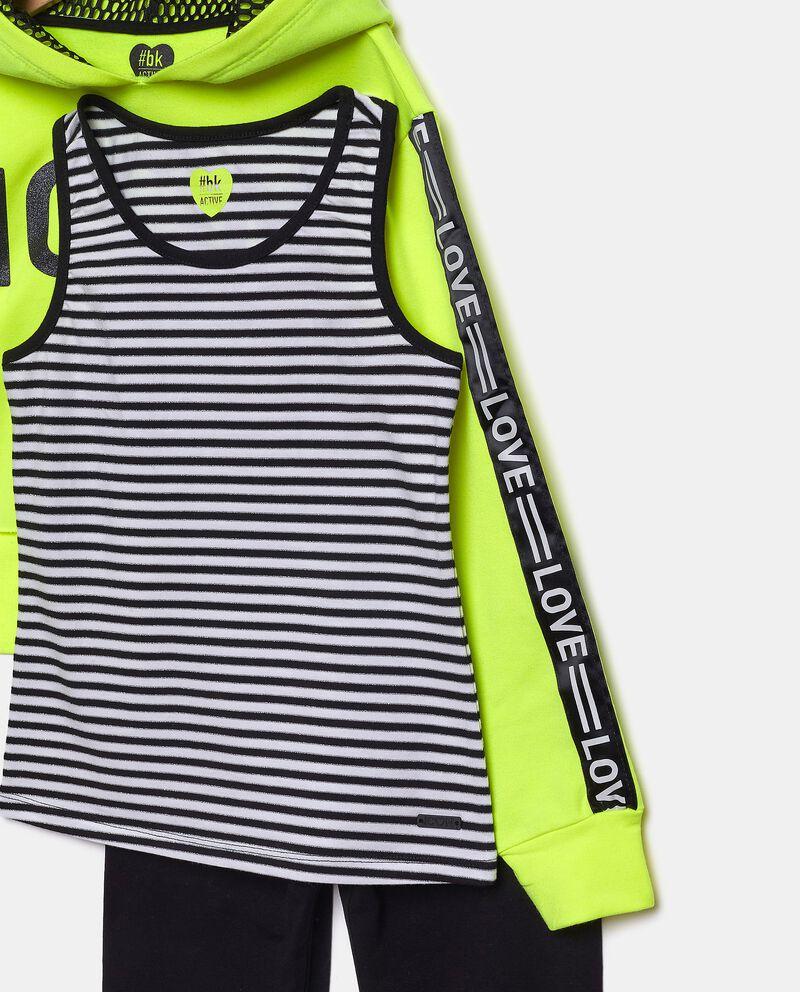 Set jogging in cotone elasticato ragazza