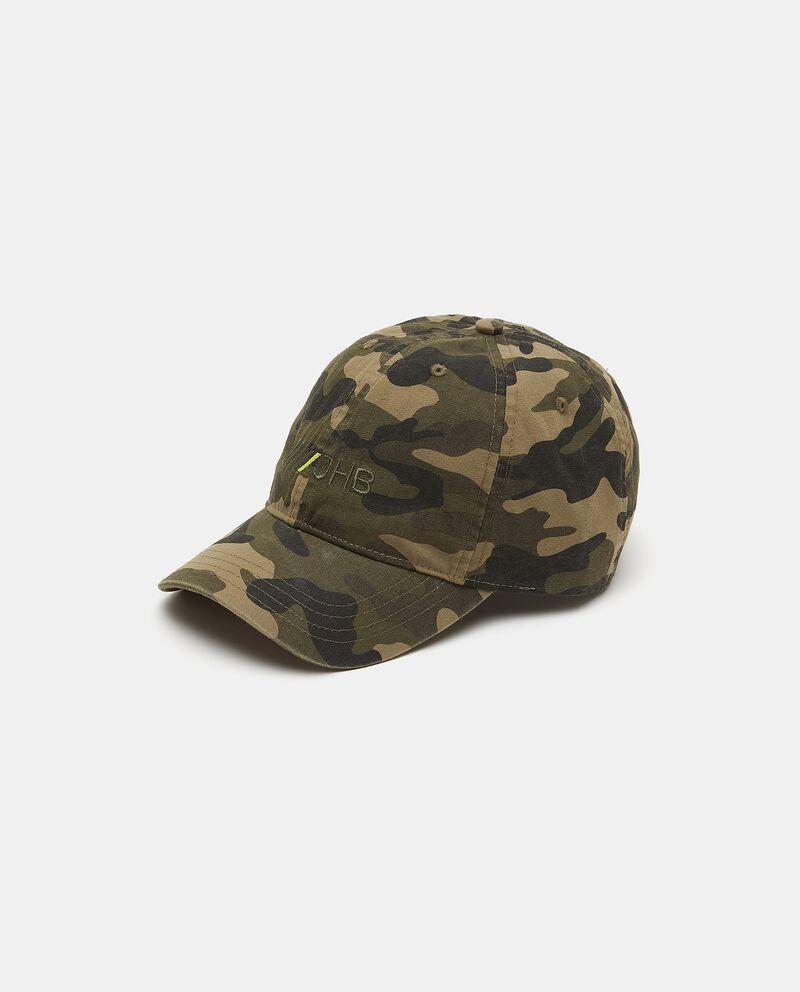 Cappellino da baseball in fantasia militare di cotone uomo