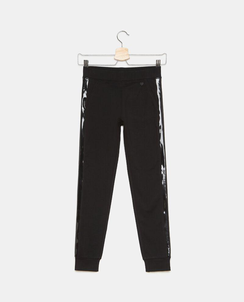 Pantaloni in felpa di cotone con inserti ragazza cover