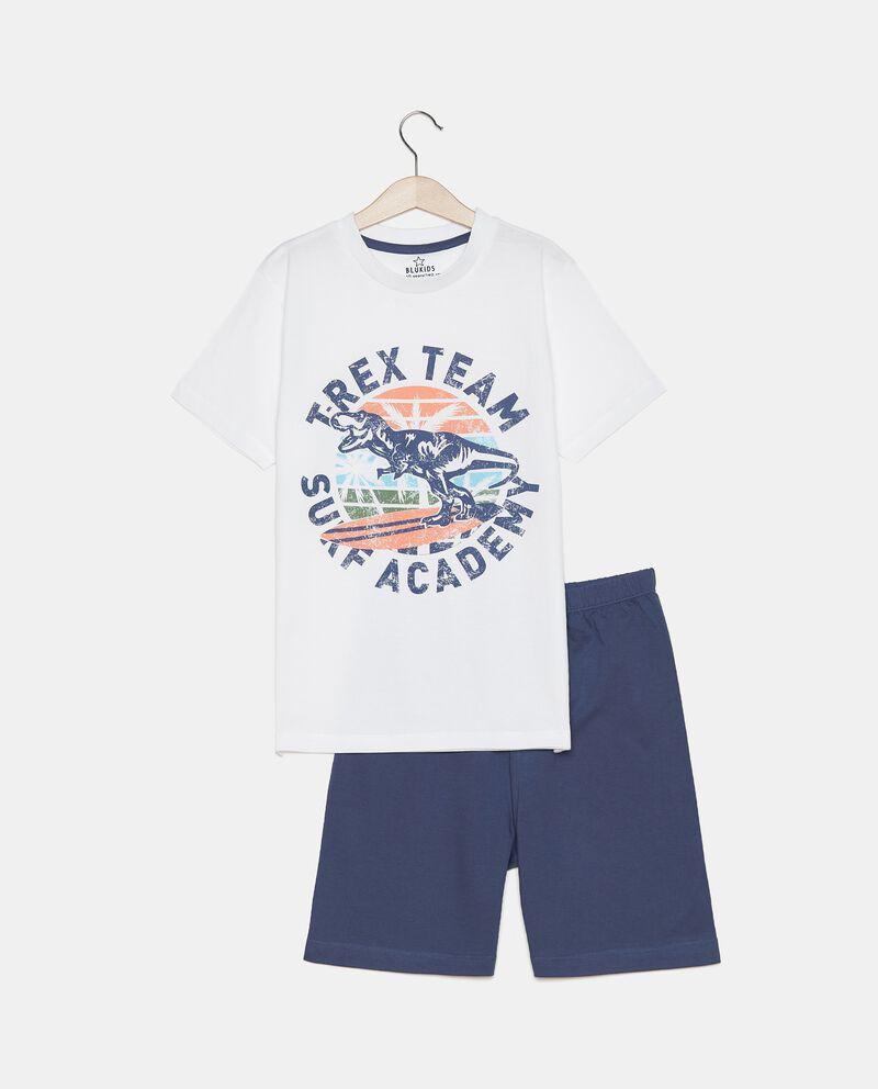 Pigiama di t-shirt e bermuda in cotone organico ragazzo